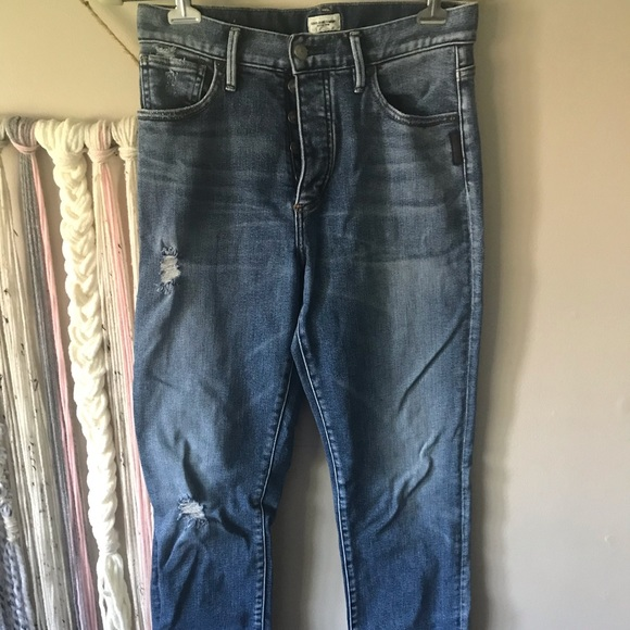 SILVER ANKLE CUT JEANS